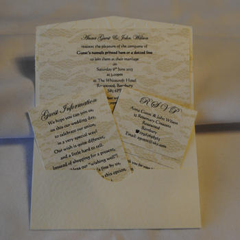 Simply Bow Pocket Fold Invitation