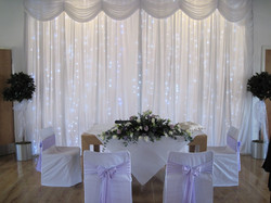 Ceremony Backdrop Ice or Warm White