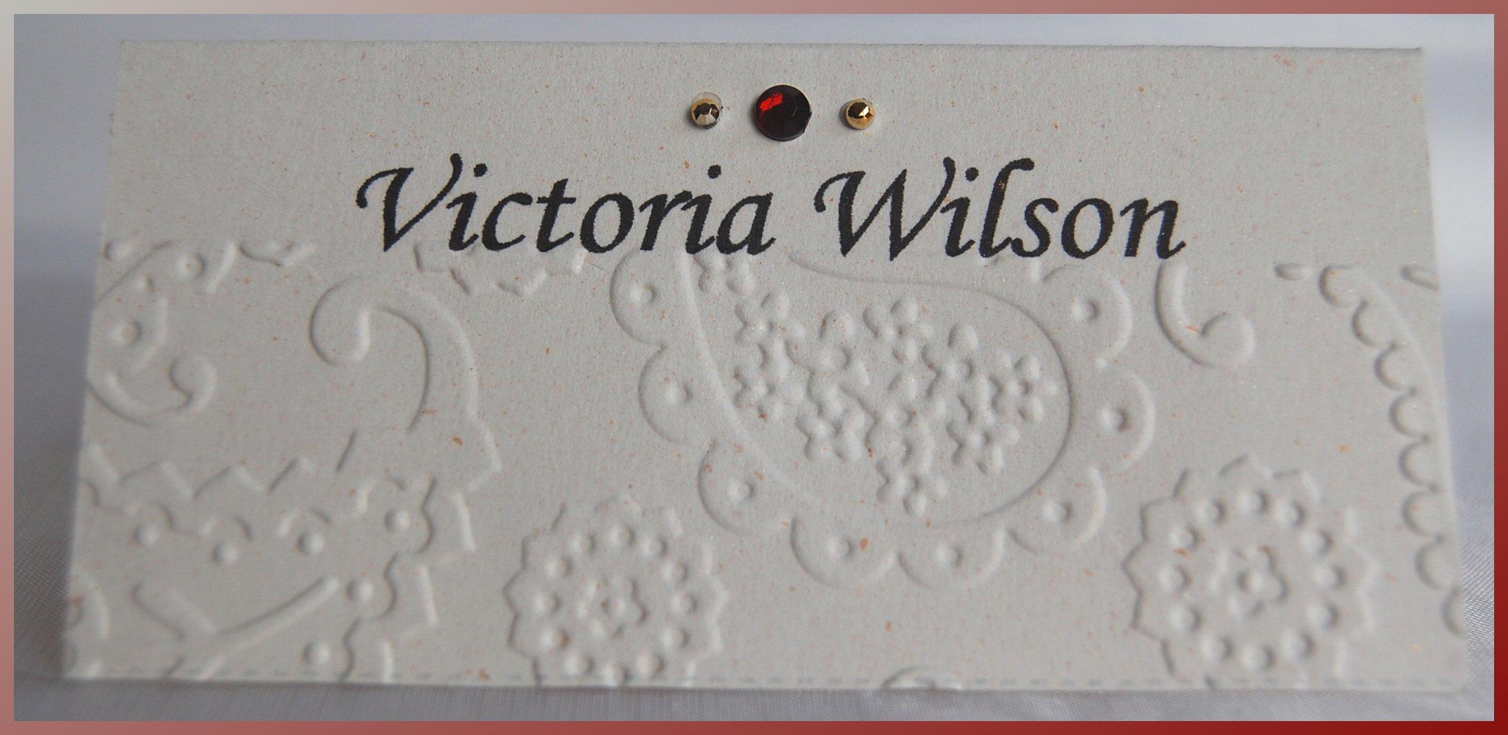 Paisley Name Card 2