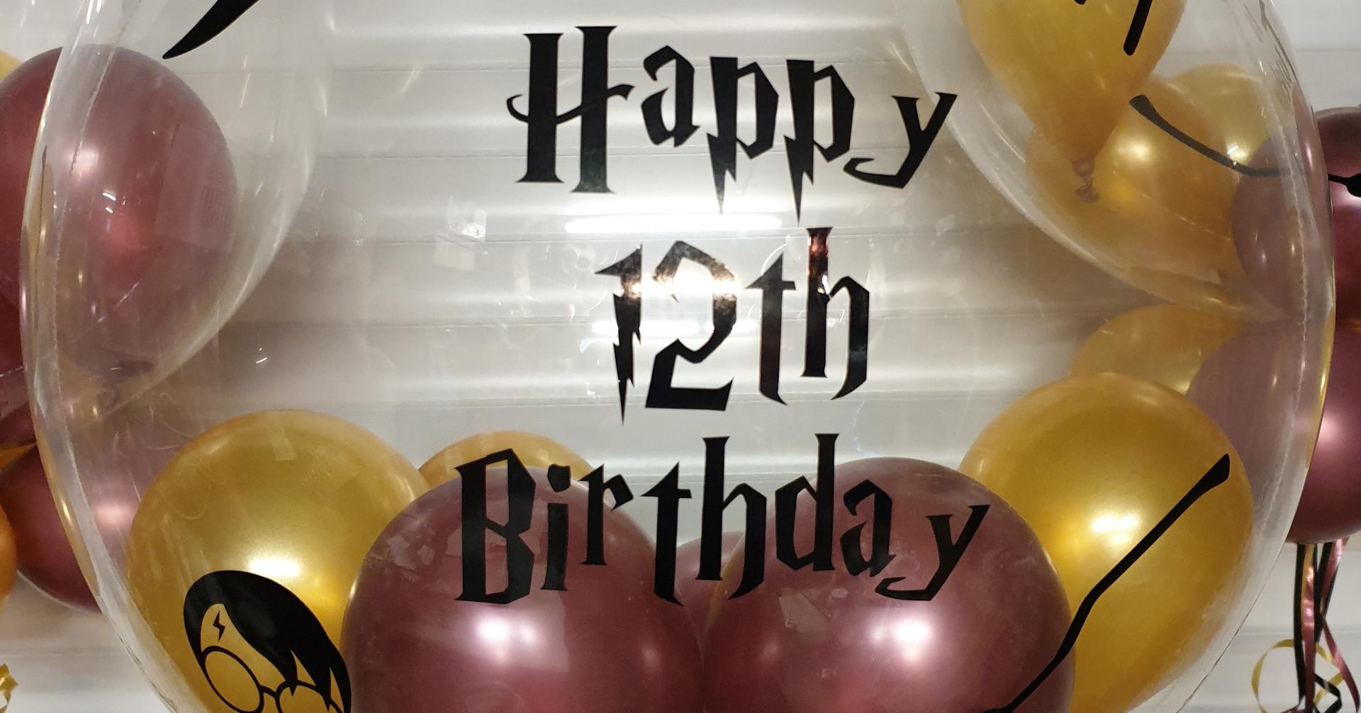 Harry potter birthday bubble balloon