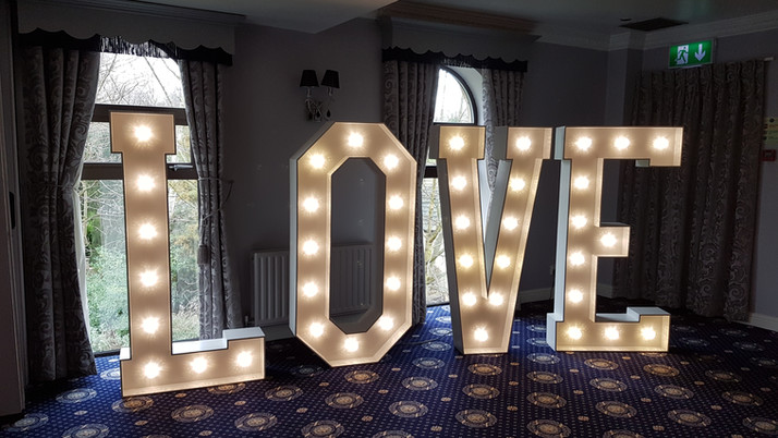 5ft LED Love Letters