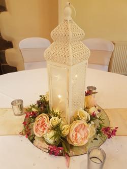 Ornate Lantern with flower rings