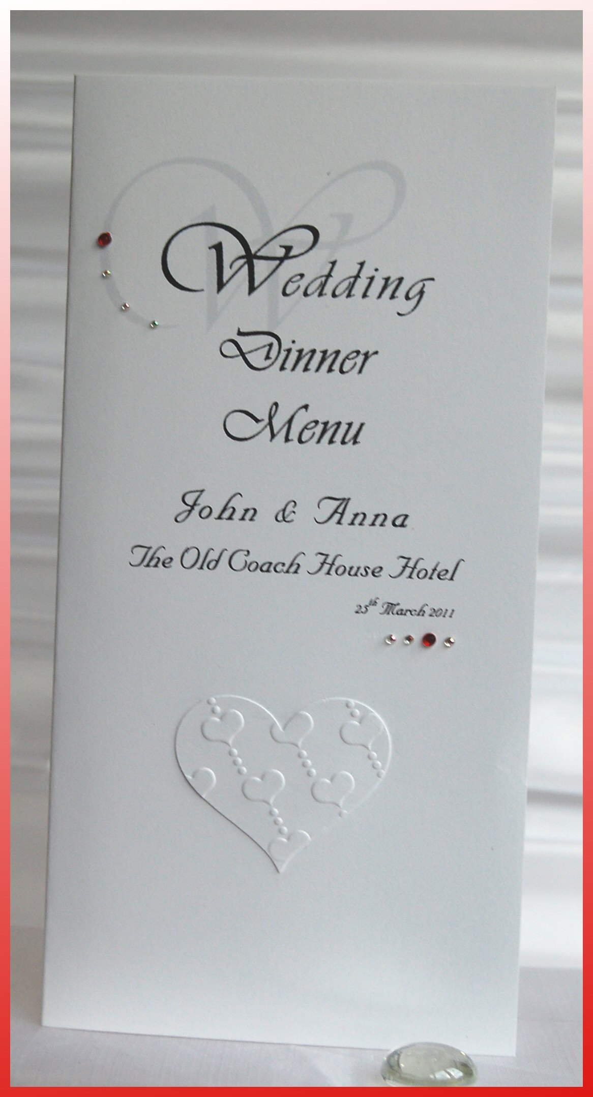 Love Heart Menu