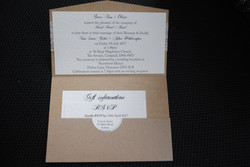 Rustic Pocket Fold Day Invite Inside