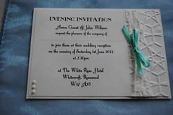 Lace Bow Postcard Evening Invitation