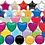 Thumbnail: Trio of Foil Balloons, Hearts, Circle or stars