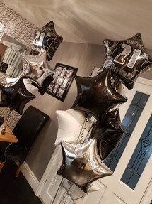 Foil 5 balloon clusters