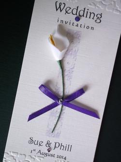Calla Lily Fan Wedding Invitation