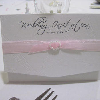 Tying the Knot Pocket Fold Invitation