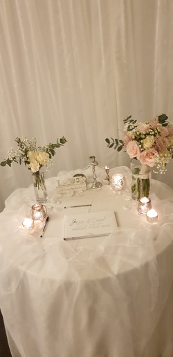 White Guest Book With Silver Vinyl