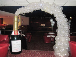 Twinkling Champagne Arch