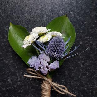 Fresh thistle buttonhole