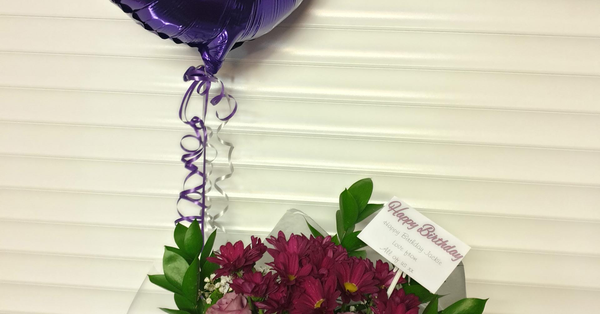 Purple circle foil balloon