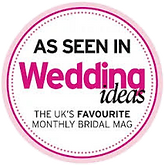 As seen in weddingideas magazine logo