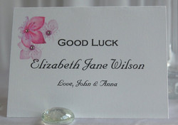 Cherry Blossom Lottery Name Card