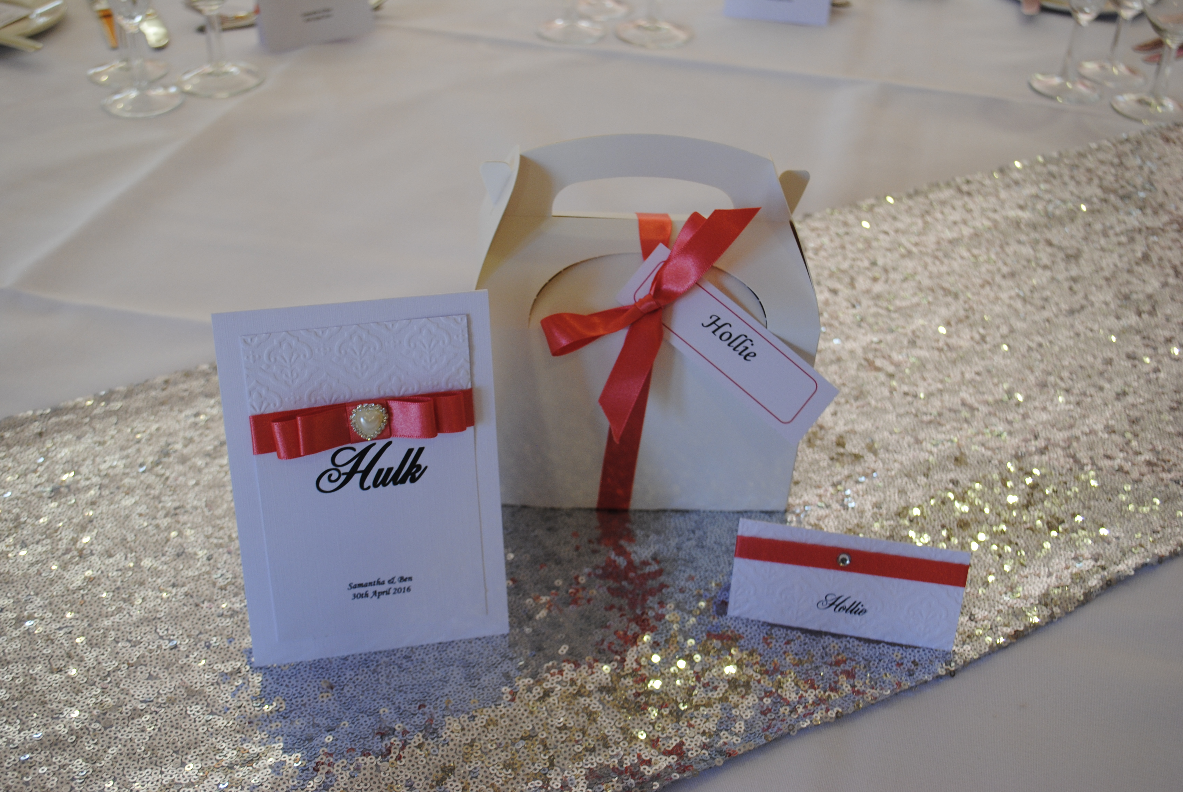 Dior Bow Table Number & Name Card