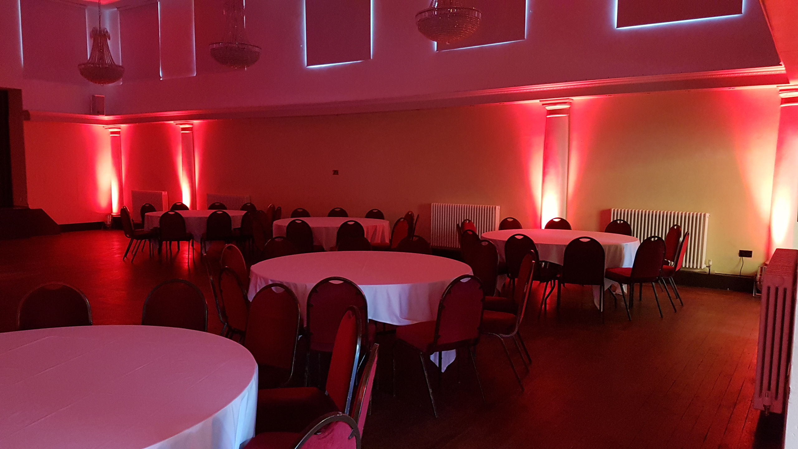 Red Uplighting at Wortley Hall