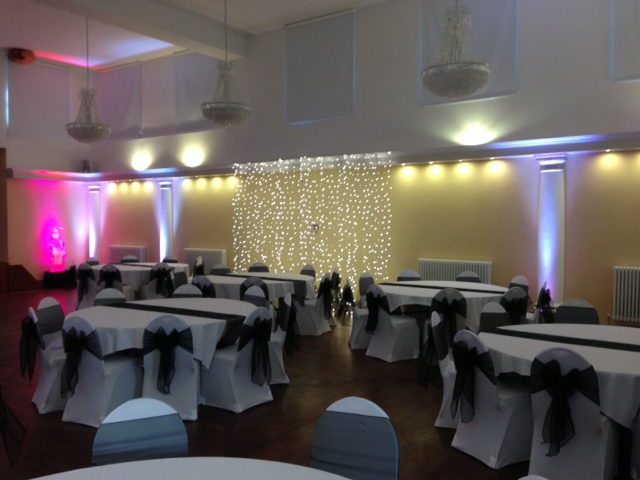 Ice White uplighting at Wortley Hall