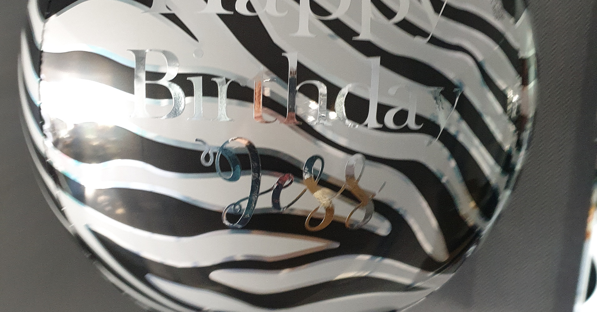 Zebra Orbz balloon