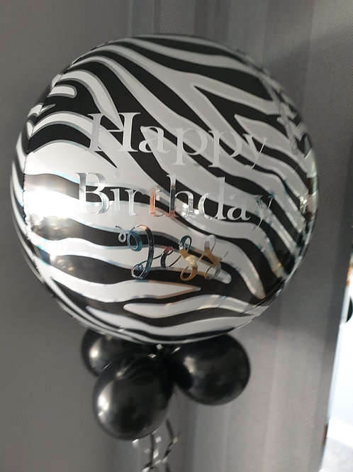 Animal Print Orbz Balloon - add personalised message