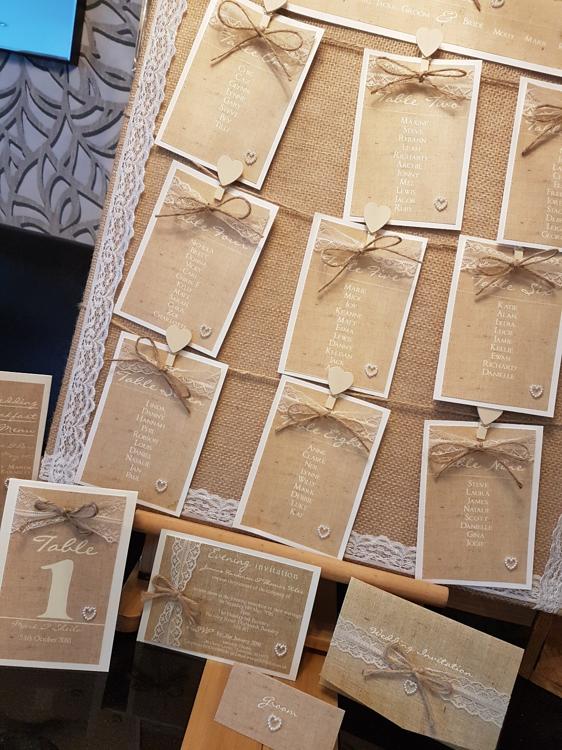 Burlap & Lace Collection with Twine