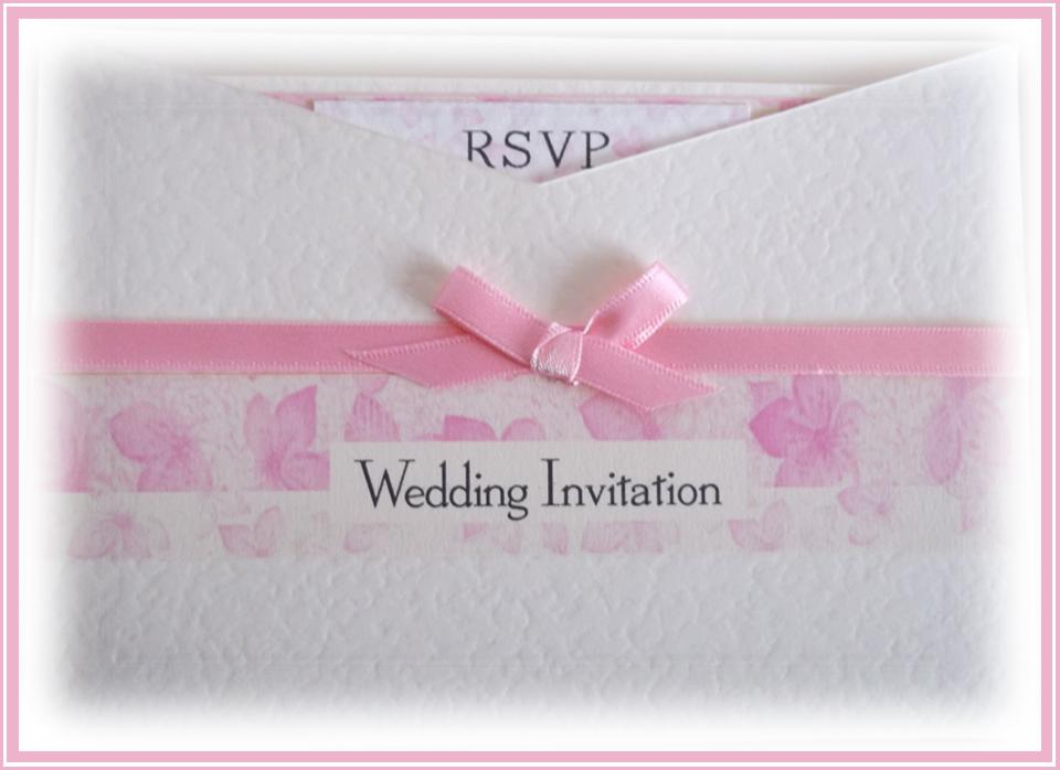 Cherry Blossom Wallet Invitation