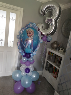 Silver 3 With Lilac, Silver & Baby Blue Mini Balloons