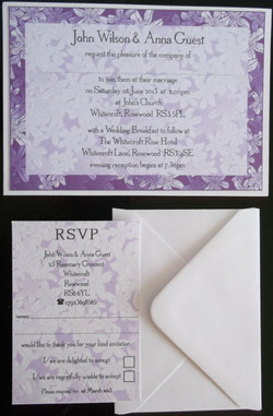 Tiger Lily Evening Invite