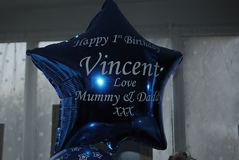 Personlised single foil balloon