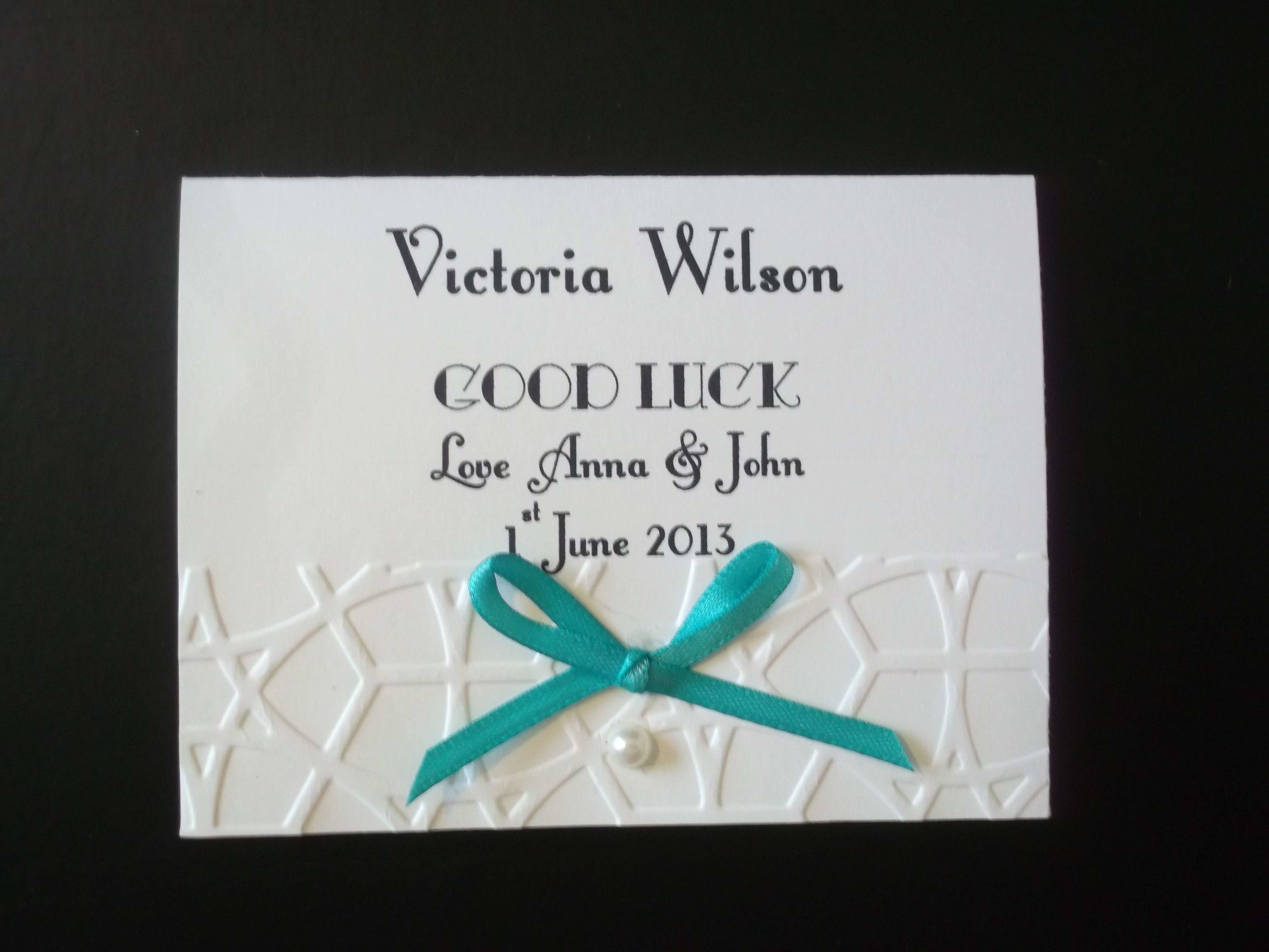 Lace Bow Lotto/Scratchcard Name Card