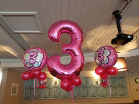 Foil 3 number balloons