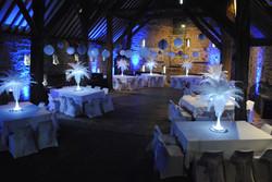 Blue Uplighting at Whiston Barn