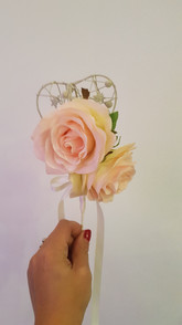 Artificial baby pink rose wand