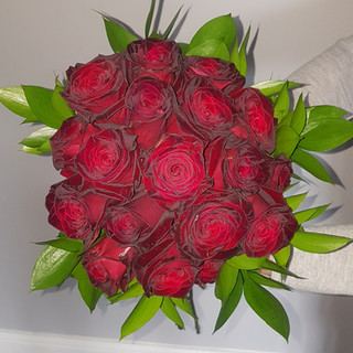 Red Rose & Ruscus Bouquet