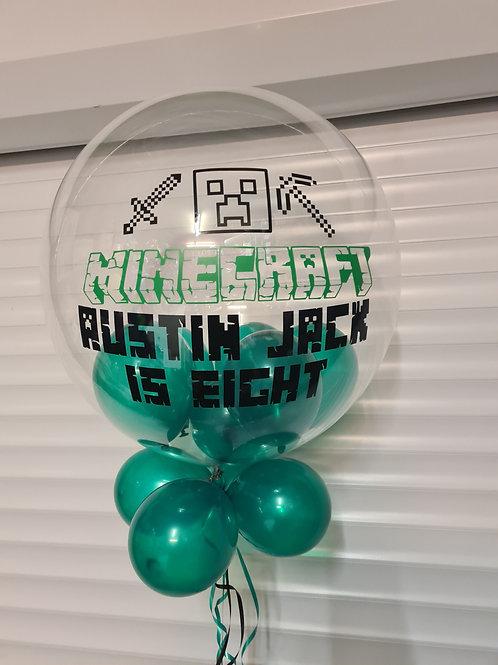 Minecraft Bubble Balloon filled with mini balloons