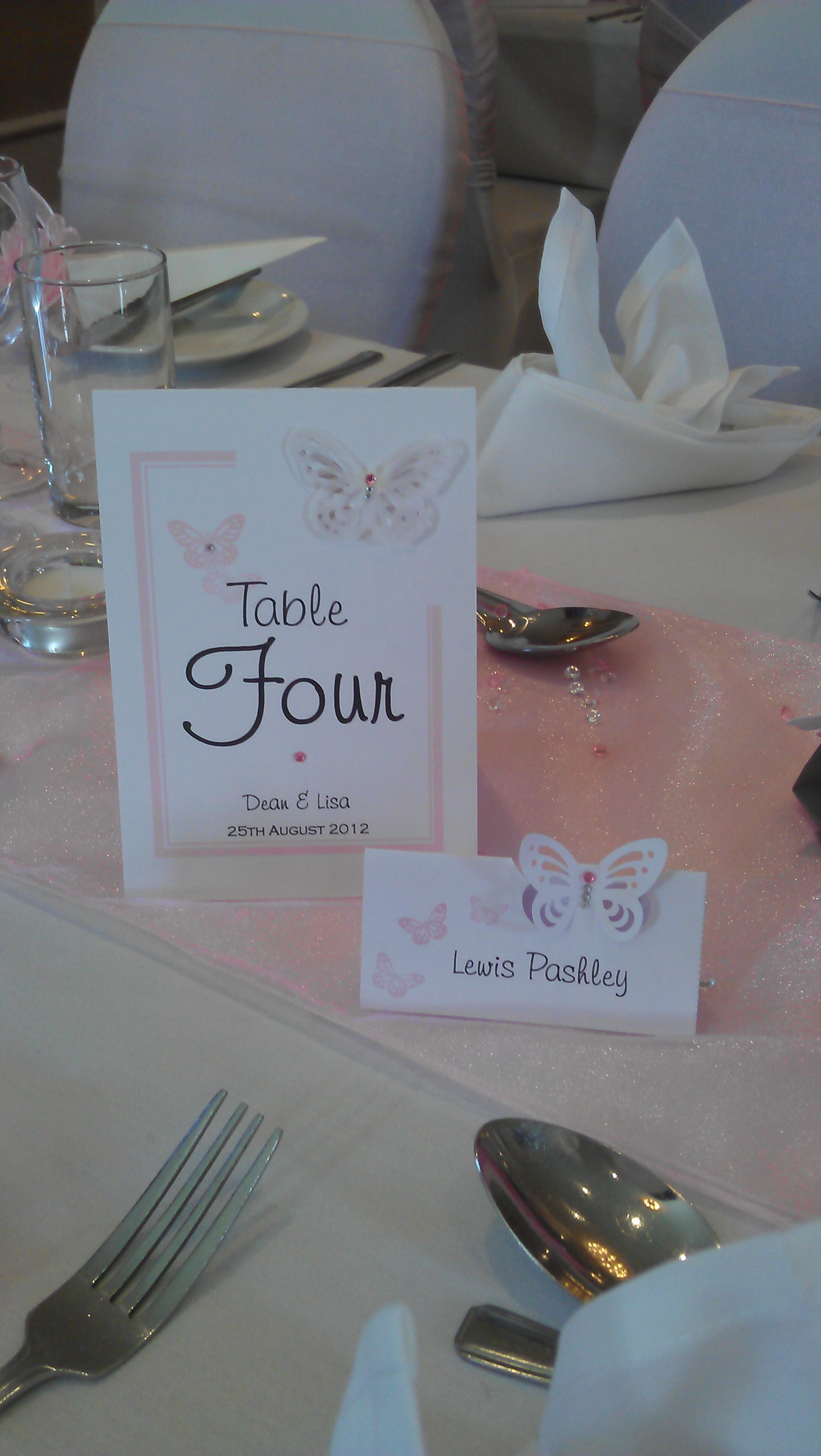 Flutter Table Number & Name Card
