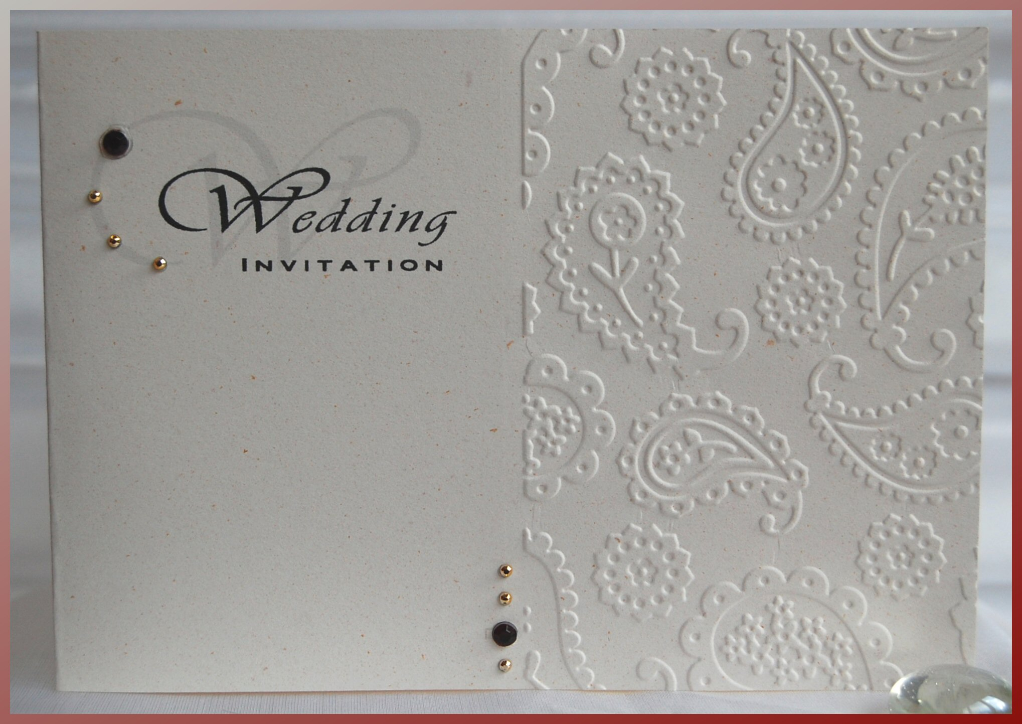Paisley Standard Wedding Invitation