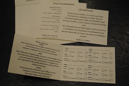 additional inserts for invitations