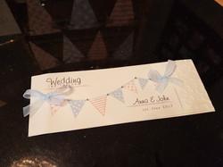 Bunting Cheque Book Invitation
