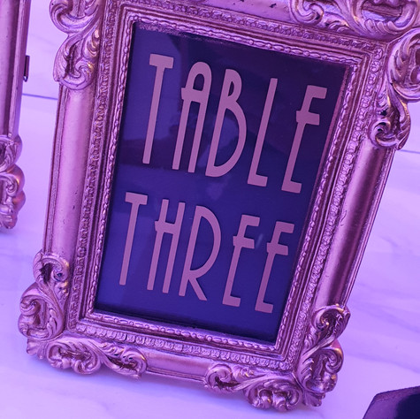 Gold Framed Table Name/Numbers