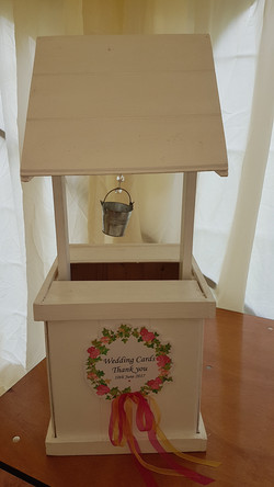 Floral Wreath Wishing Well