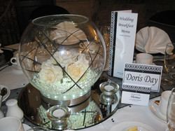 Damask Table Setting