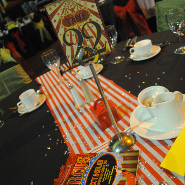 Circus table numbers