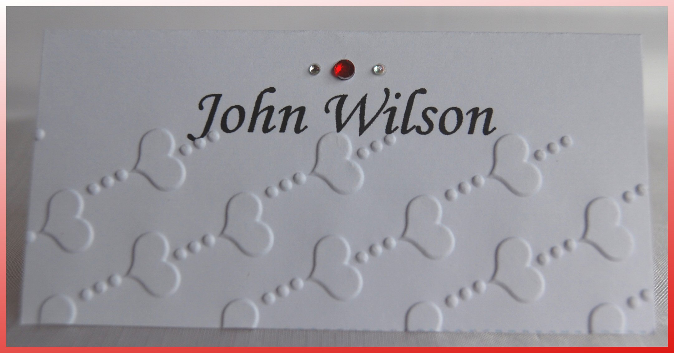 Love Heart Name Card