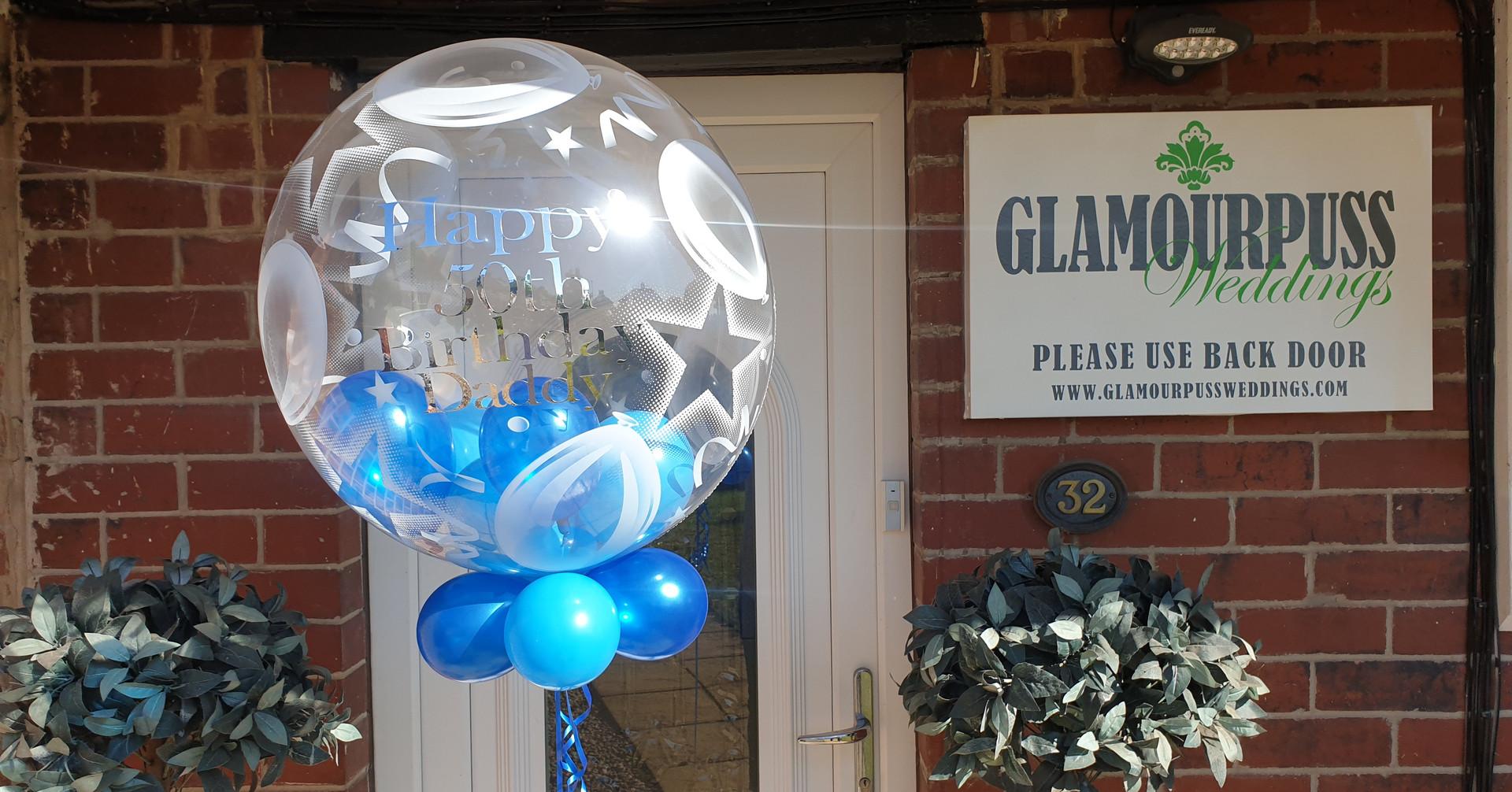 Star & ballon print birthday bubble