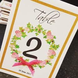 Floral Wreath Table Number
