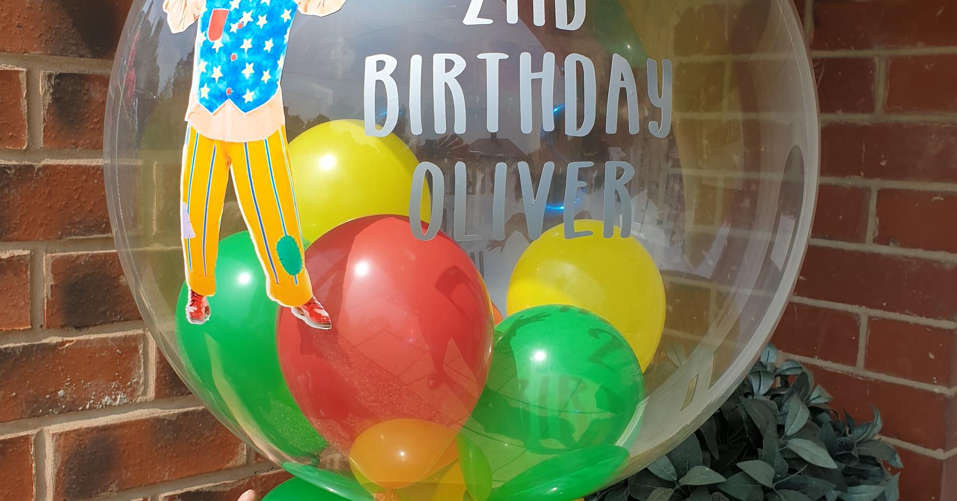 Mr tumble birthday bubble balloon