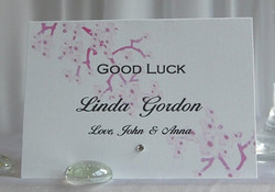 Blossom Tree Lottery Name Card