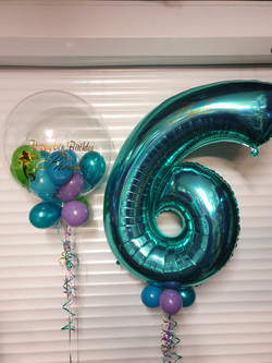 Tiffany Blue 6 With Lilac & Blue Mini Balloons