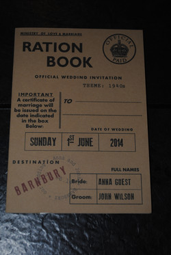 Ration Book Day Invite